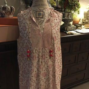 Like NEW Designer blouse w/ gold threads